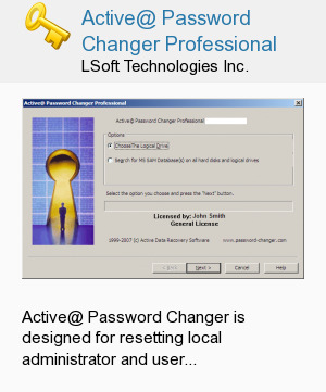 Active@ Password Changer Professional