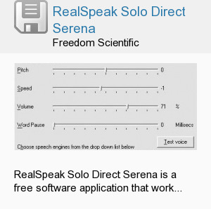 RealSpeak Solo Direct Serena