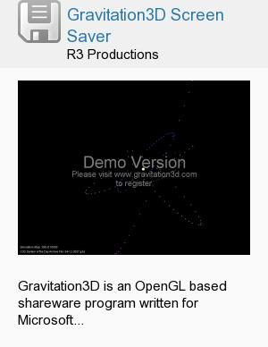 Gravitation3D Screen Saver