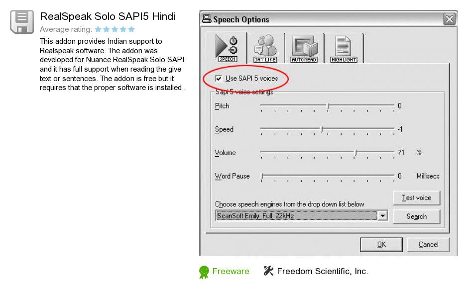 RealSpeak Solo SAPI5 Hindi