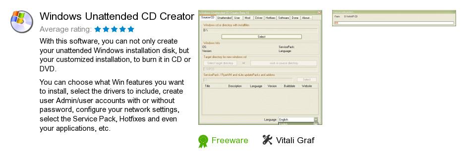 Windows Unattended CD Creator