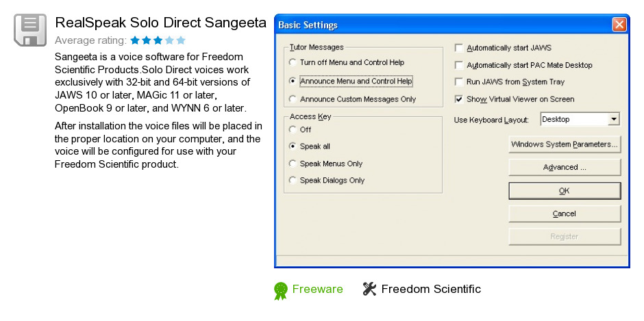 RealSpeak Solo Direct Sangeeta