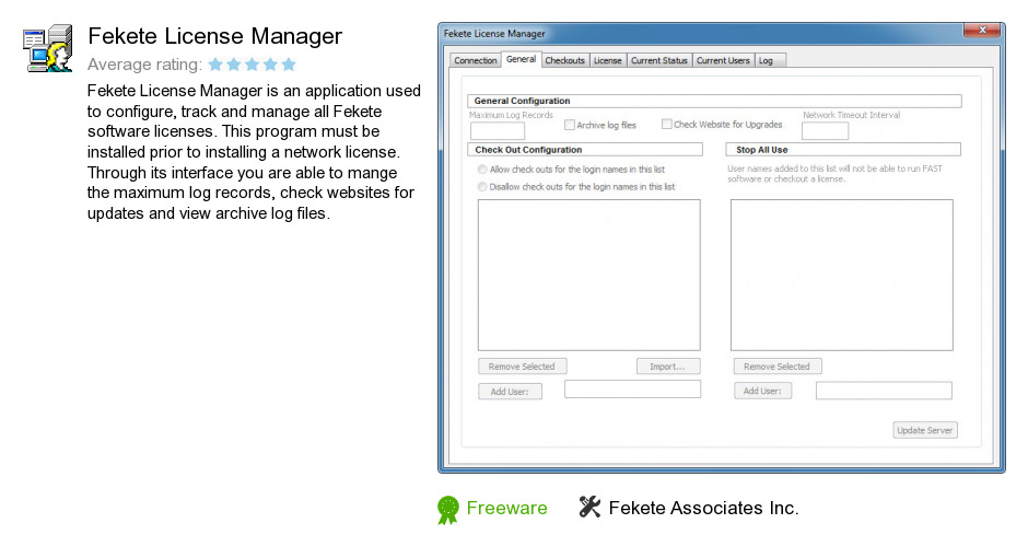 Fekete License Manager
