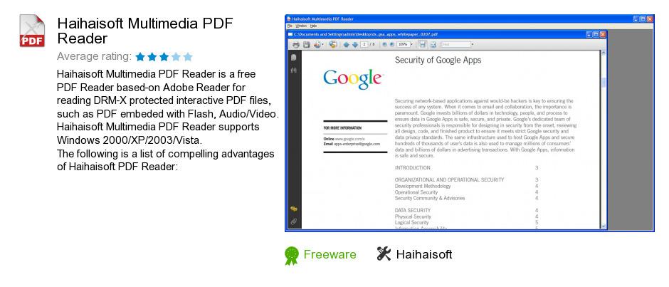 Haihaisoft Multimedia PDF Reader