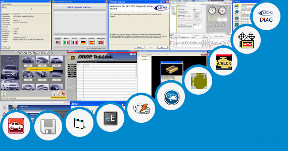 Software collection for Obd2 Ecu Diagnostic