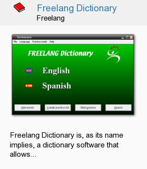 Freelang Dictionary