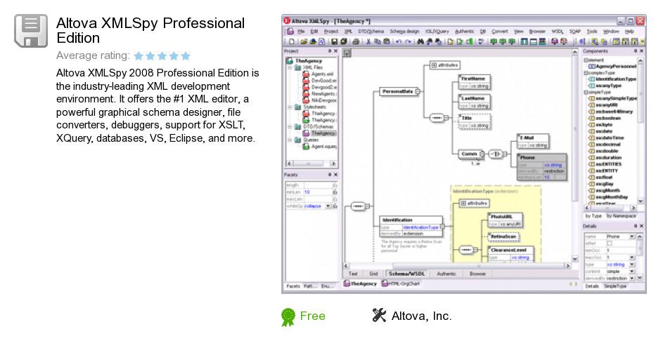 Altova XMLSpy Professional Edition