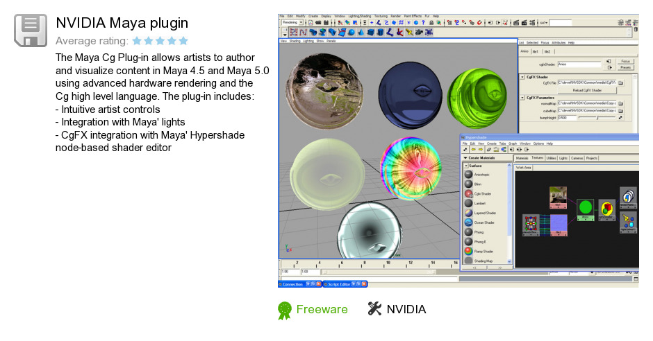 NVIDIA Maya plugin