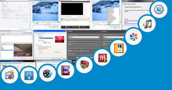 Software collection for Video Maker Editor 240 400