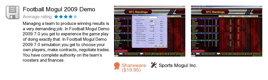Football Mogul 2009 Demo