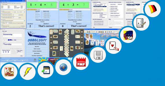 Software collection for English Flash Card For Kids Excel
