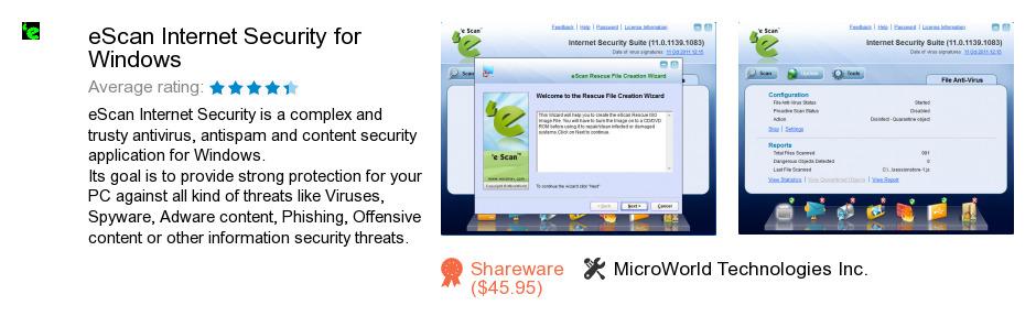 EScan Internet Security for Windows