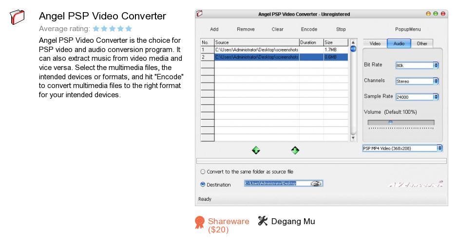 Angel PSP Video Converter