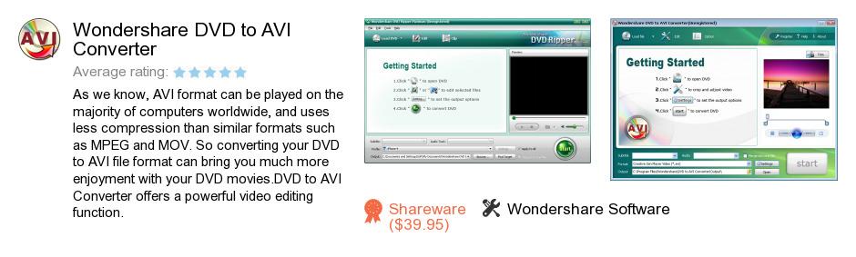Wondershare DVD to AVI Converter