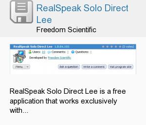 RealSpeak Solo Direct Lee