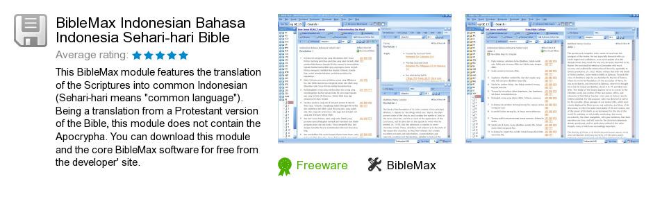 BibleMax Indonesian Bahasa Indonesia Sehari-hari Bible