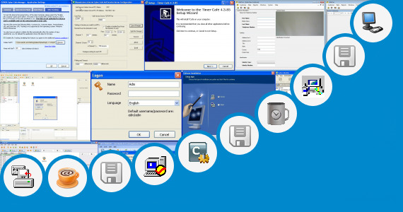 Software collection for Cyber Cafe Tagline
