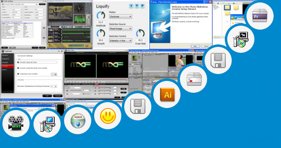 Software collection for Xplode Effect Adobe Premiere Cs3