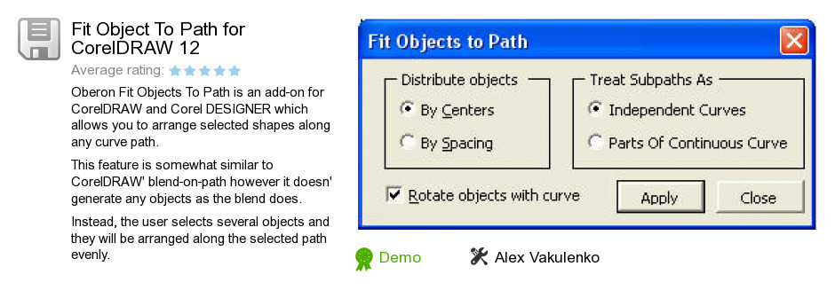 Fit Object To Path for CorelDRAW 12