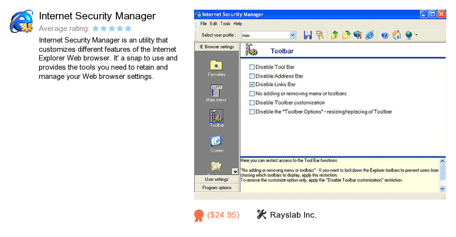 Internet Security Manager