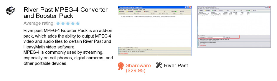 River Past MPEG-4 Converter and Booster Pack