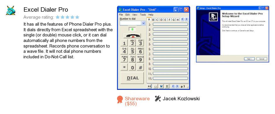 Excel Dialer Pro