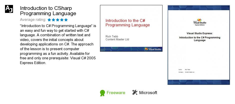 Introduction to CSharp Programming Language