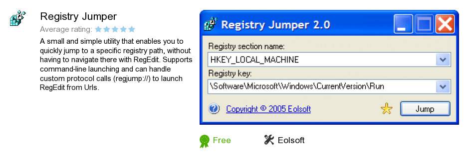 Registry Jumper