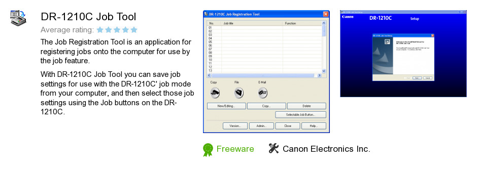 DR-1210C Job Tool