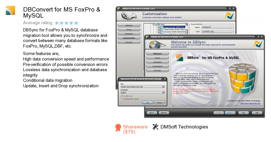 DBConvert for MS FoxPro & MySQL