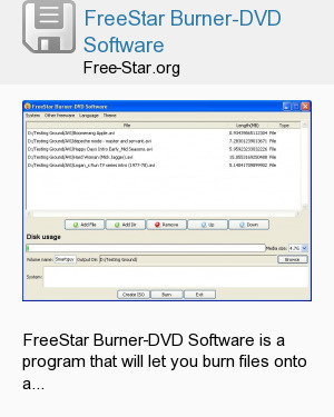 FreeStar Burner-DVD Software