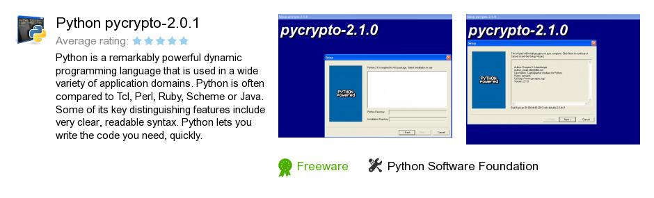 Python pycrypto-2.0.1