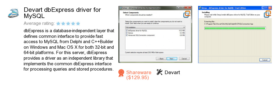 Devart dbExpress driver for MySQL