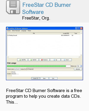 FreeStar CD Burner Software