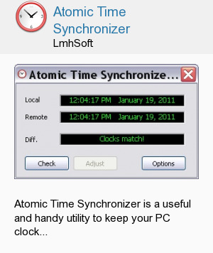 Atomic Time Synchronizer