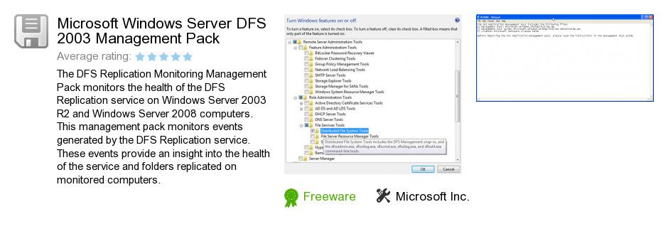 Microsoft Windows Server DFS 2003 Management Pack