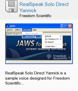 RealSpeak Solo Direct Yannick