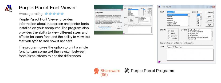 Purple Parrot Font Viewer
