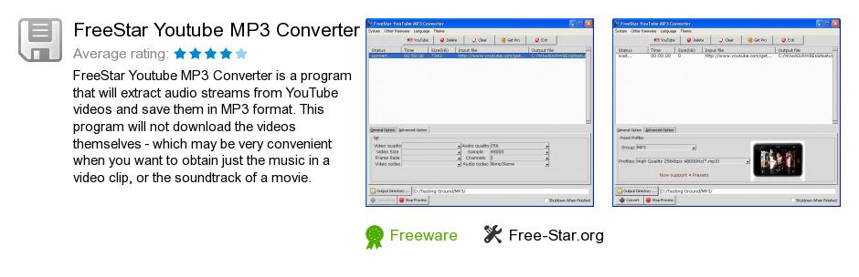 FreeStar Youtube MP3 Converter