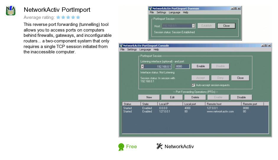 NetworkActiv PortImport