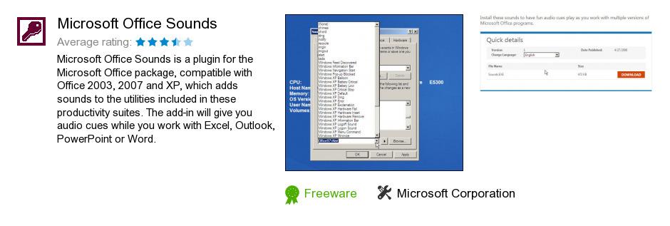 Microsoft Office Sounds
