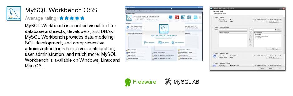 MySQL Workbench OSS
