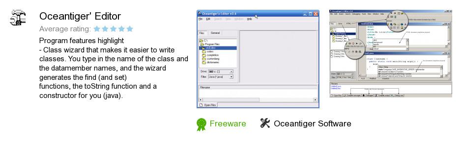 Oceantiger's Editor