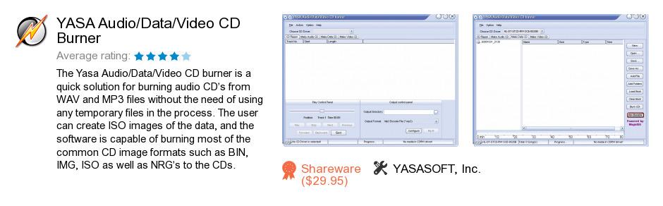 YASA Audio/Data/Video CD Burner