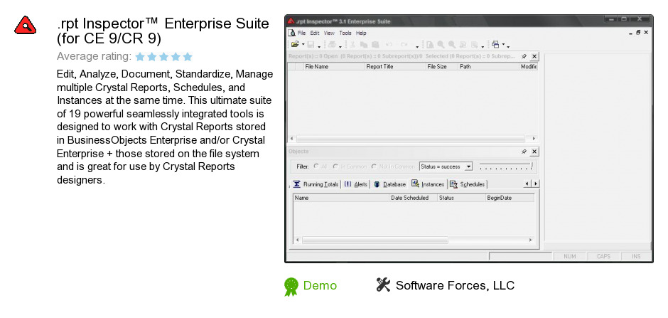 .rpt Inspector™ Enterprise Suite (for CE 9/CR 9)