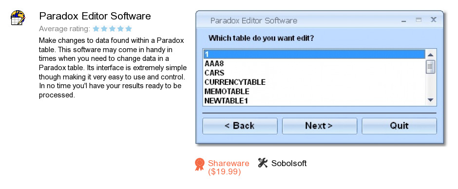 Paradox Editor Software
