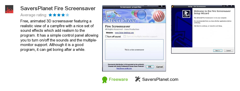 SaversPlanet  Fire Screensaver