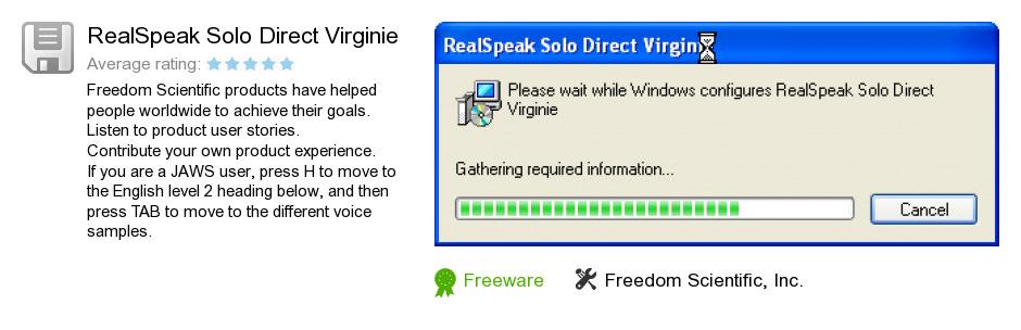 RealSpeak Solo Direct Virginie