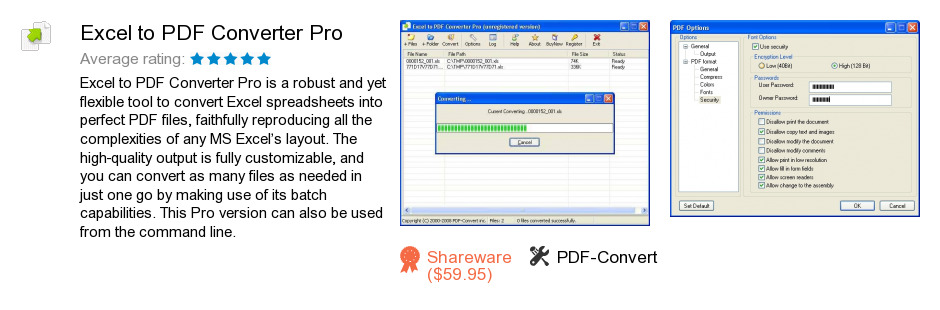 Excel to PDF Converter Pro