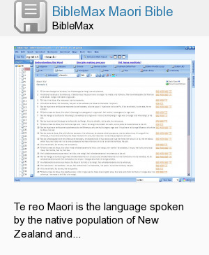 BibleMax Maori Bible